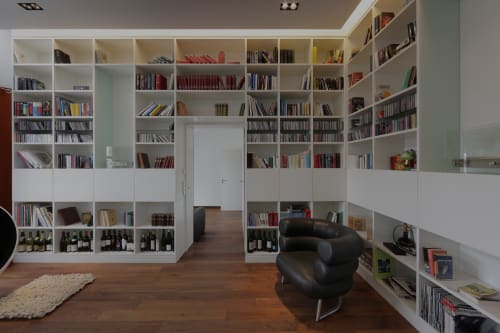 Bookcases a collection curated by divisare - Maison pg architekten wannenmacher moller ...