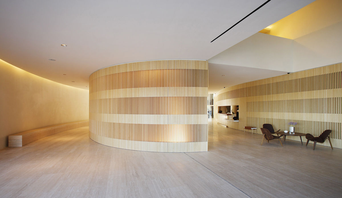 John pawson hotel puerta am rica reception desk and meeting rooms divisare - Hotel puerta america ...
